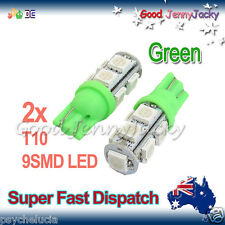 LED 2X T10 Green 9SMD 5050 for Car Side Light Parker Bulb Lamp DC 12V