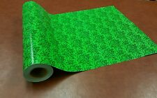 Half ream 24 inch wide Gloss Lime Green Holly gift wrap 417 feet