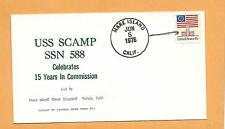 U.S.S. SCAMP SSN 558 15 YEARS IN COMMISSION JUN 5,1976 MARE ISLAND