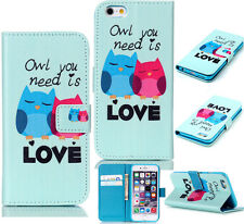 Leather Flip Wallet Case Cover for Samsung Galaxy Trend Plus GT-S7580 S7582 p