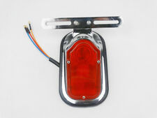 Motorcycle Chrome Rear Fender Taillight Tail Light for Yamaha Custom Classic New