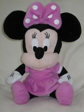 "Gros 13"" assis rose MINNIE MOUSE DISNEY plush soft toy"
