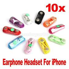 Lot 10 in Ear Earphones Headphones With Mic For iPhone 3G 4G 4S iPod Touch Nano