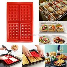 Silicone 4-Cavity Waffles Cake Chocolate Baking Mould Pan Donut Maker Tool Mold