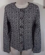 CHARTER CLUB Black & White Zebra Print Jacket, Ladies S