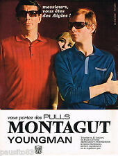 PUBLICITE ADVERTISING 055  1967  MONTAGUT  pull homme YOUNGMAN