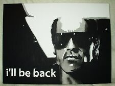 Lienzo película de Terminator cotización que le de vuelta B&W Arte 16x12 pulgada de acrílico