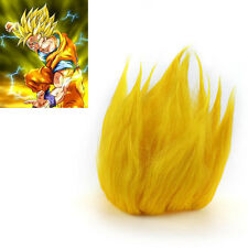 Wig Costume Cosplay Saiyan Goku Dragonball Z Gold Hair replacement Action Figure