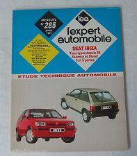 Revue technique EXPERT AUTOMOBILE 285 1991 Seat ibiza tous types depuis 86