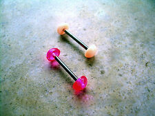 """14g  5/8""""  Dome Tongue Barbell Retainer Flesh Tone"""