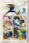 1984 Captain America 295 page 22 original Marvel Comics color guide art: 1980's