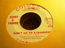 """KENNY & YVONNE don't go strangers / come on ( r&b ) - 7"""" / 45 - PROMO -"""