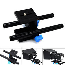 15mm Rail Rod Support System Baseplate Mount for DSLR Follow Focus Rig Mattbox