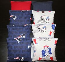All Weather Cornhole Bean Bags made w NEW ENGLAND PATRIOTS fabric Waterproof NFL