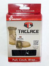 TacLace Tactical Boot Lacing System Black Color Shoelace Skilcraft Laces  NEW