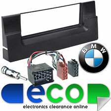 BMW 5 Series E39 Single Din Fascia Panel & Car Stereo Round Pin ISO Fitting Kit