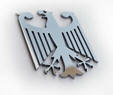 "Large 5"" Real Metal German Eagle Germany Emblem Insignia Decal Badge Gift"