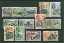 Sierra Leone 1956 set to £1 13 values good Used.