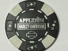 Harley Poker Chip   APPLETON HD    CLARKSVILLE, TN      BLACK & WHITE