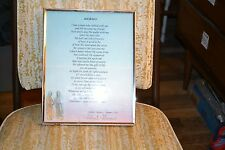 """Old picture frame with poem """"Journey"""" by author Robert F Grames, D.R."""
