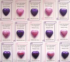 Personalised Wedding/Hen Party Favour - Single Chocolate Heart - low as 45p each