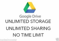 UNLIMITED CLOUD STORAGE GOOGLE DRIVE FOR LIFE- CUSTOMISED USERNAMES-JUST ONE-OFF