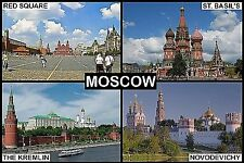 SOUVENIR FRIDGE MAGNET of MOSCOW RUSSIA
