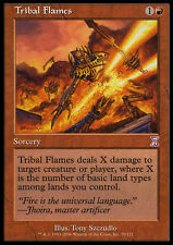 MTG TRIBAL FLAMES FOIL EXC - FIAMME TRIBALI ROVINATA - TSP - MAGIC