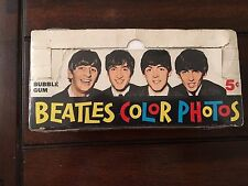1964 Topps Gum Co Beatles Color Photos Empty Wax Pack Display Box