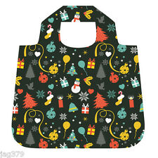 CHRISTMAS Delights Shopping Bag FOLDABLE Eco ROLL Up ENVIROSAX Chic Tote