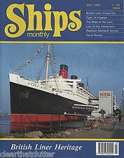 MAID of LOCH Paddle Steamer - ZENITH CHANDRIS CRUISES - SHIPS MONTHLY July 1992