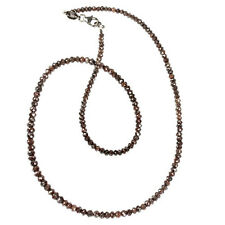 Black Diamond Necklace-3mm-36 Carats.Certified.AAA.Gold Clasp.Earth Mined.