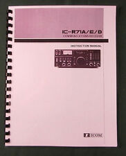 Icom IC-R71A Instruction manual - Premium Card Stock Covers & 28 LB Paper!