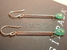 "SILPADA Sterling Silver 925 Green Quartzite Briolette ""Key Lime"" Earrings W3064A"