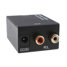 ADC-48K Analog to Digital Optical Audio Cable Converter Adapter Left/Right RCA