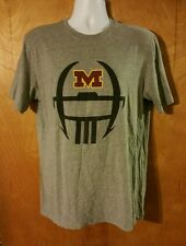 Mens Size Large Nike Regular Fit Minnesota Golden Gophers Football Gray T-Shirt