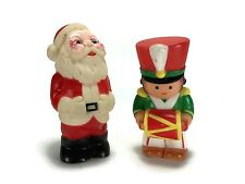 VTG Soft Rubber Squeak Toys Santa Claus Toy Soldier - Christmas - Made in Taiwan