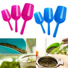 3pcs Candy Color Pets Dog Cat Puppy Food Spoon Scoop Shovel Multifunction