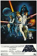 Star Wars Classic Movie Wall Poster Vintage 24x36 inch