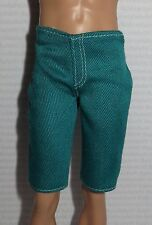 BOTTOM ~ MATTEL KEN DOLL FASHIONISTA TEAL SHORTS ACCESSORY CLOTHING