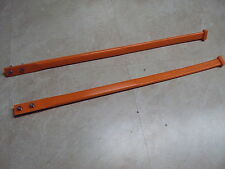 SIMMONS SKIS SKI FRONT PLASTIC TIPS STRAPS LOOPS GRAB HANDLES FLEXI ORANGE NEW