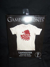 HBO Game of Thrones GOT Lannister Lion Hear Me Roar T Shirt Large NEW
