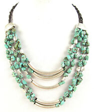 Robert Lee Morris Turquoise Multi Row Necklace $98