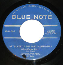 """Art Blakey & The Jazz Messengers 7"""" 45 HEAR What Know part 1 & 2 BLUE NOTE 1821"""