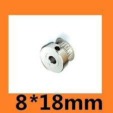 8 18mm3D NEW 2GT 20 Tooth 20T Bore Aluminum Timing Pulley 3D Printer