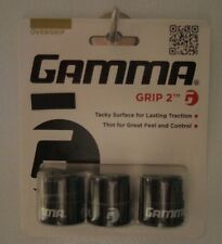 NEW Gamma Grip 2 Tennis Overgrips - 3 Three /Pack- Black Over grips
