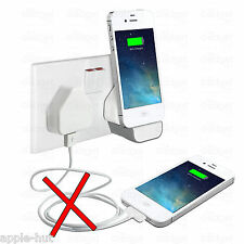 Wall Charger Dock Stand Docking Station + Mains Plug For Apple iPhone 3gs/4g/4s