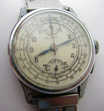 VINTAGE SWISS HELBROS 17J TWO REGISTER CHRONOGRAPH WRISTWATCH WATCH PARTS REPAIR