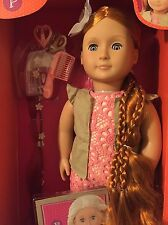 """Our Generation Patience 18"""" Hair Grow Red Head Styling Doll w/Book & Accessories"""