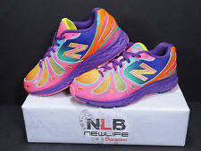 New Balance KJ890GRG GIrl's Running Shoes Size 4 Rainbow
